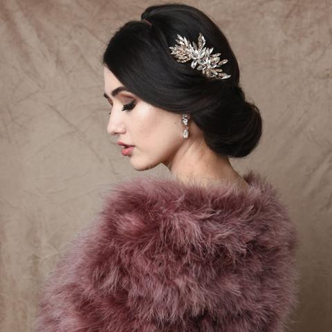 Hiuskoru, ATHENA BRIDAL|Glamorous Crystal Haircomb