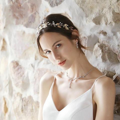 Hiuskoru, ROMANCE|Gold Leafs  and Pearls Headpiece