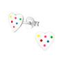 Hopeiset korvanapit, Rainbow dots -sydänkorvakorut