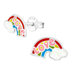 Hopeiset korvanapit, Love Rainbow -sateenkari korvakorut