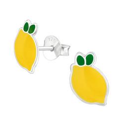 Hopeiset korvanapit, Lemon -sitruunakorvakorut
