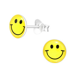 Hopeiset korvanapit, Smiley -hymynaama korvakorut
