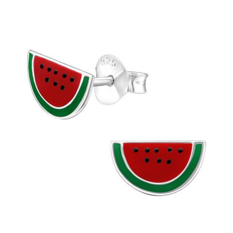 Hopeiset korvanapit, Watermelon -vesimelonikorvakorut
