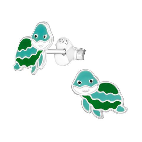 Lasten hopeakorvakorut, Turtle -kilpikonnakorvakorut