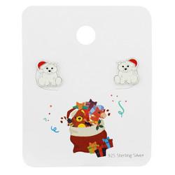 Lasten hopeakorvakorut, Christmas Bear -joulukorvakorut