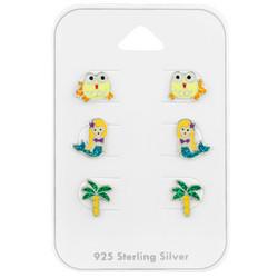 Lasten hopeanappisetti, Beach -rantanappisetti