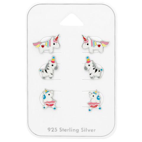 Lasten hopeanappisetti, Party Zebra -seepranappisetti