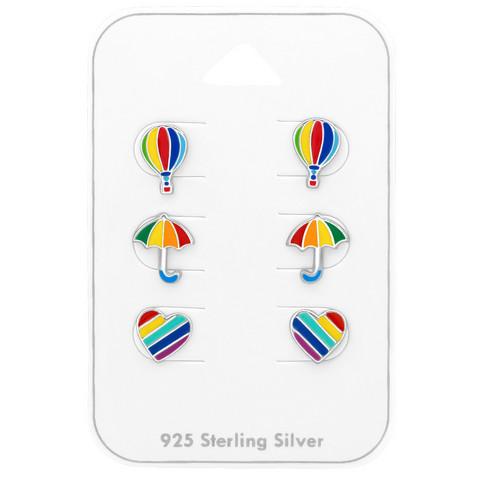 Hopeinen nappisetti, Rainbow -sateenkaarinappisetti