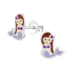Lasten hopeakorvakorut, Mermaid in Lilac -merenneitokorvakorut