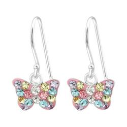 Lasten hopeakorvakorut, Small Glitter Butterfly -kimaltava perhonen