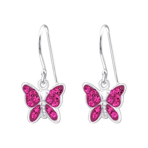 Hopeiset korvakorut, Rose Butterfly -perhoskorvakorut