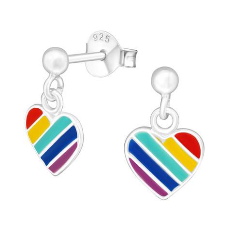 Hopeakorvakorut, Rainbow Heart -sateenkaari sydänkorvakorut