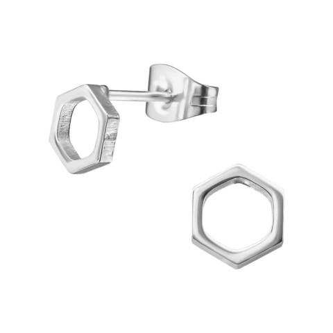 Kirurginteräsnapit, Modern Hexagon Earstuds