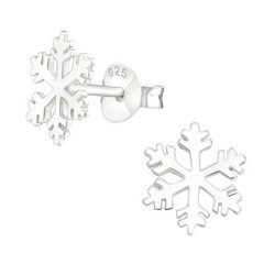 Hopeiset korvanapit, Winter Snowflake -lumihiutalenapit