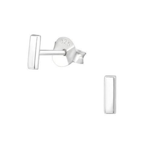 Hopeiset korvanapit, MINIMALISM|Mini Silver Bar