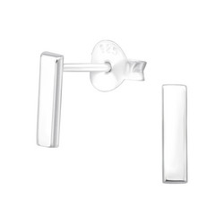 Hopeiset korvanapit, MINIMALISM|Mini Medium Silver Bar