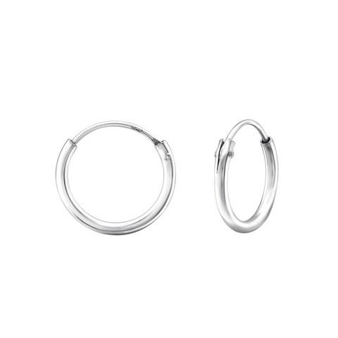 Hopeiset renkaat, Basic 10mm Silver Hoops
