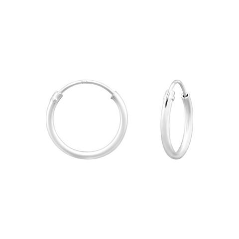 Hopeiset renkaat, Basic 10mm Silver Hoops in Matte