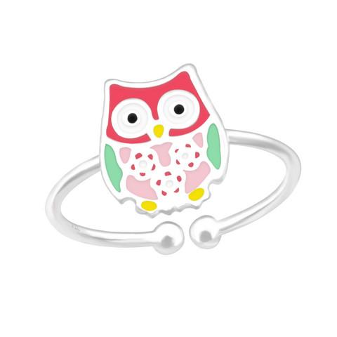 Lasten hopeasormus, Pink Owl -pöllösormus