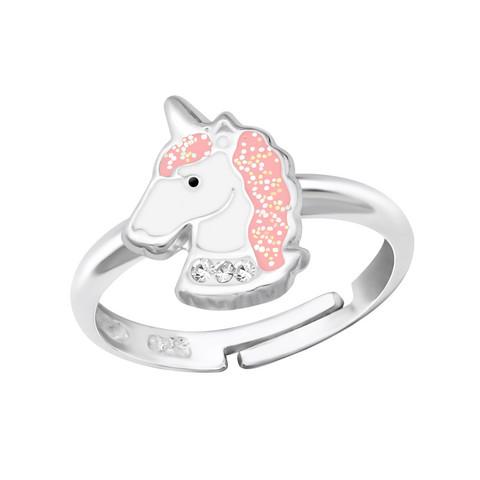 Lasten hopeasormus, Pink Unicorn -yksisarvissormus