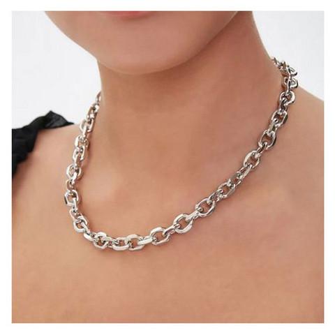 Kaulakoru, PAPARAZZI|Oval Fashion Chain in Silver