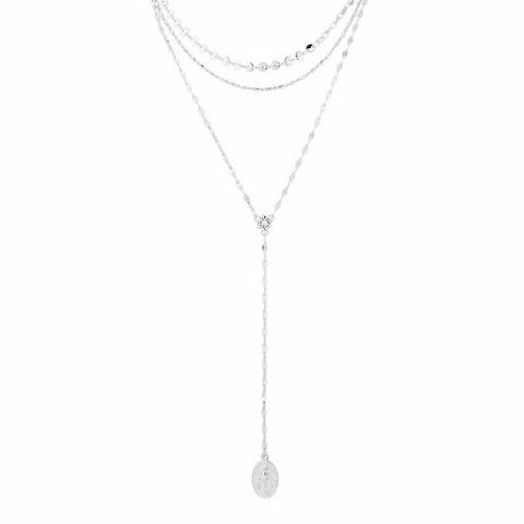 Kerroskaulakoru, FRENCH RIVIERA|Rosary Style Necklace in Silver