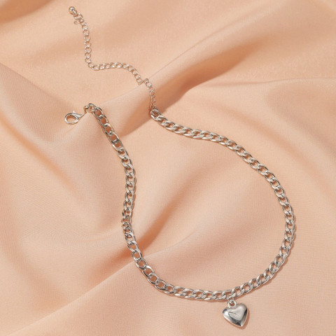 Kaulakoru, PAPARAZZI Fashion Chain with Silver Heart