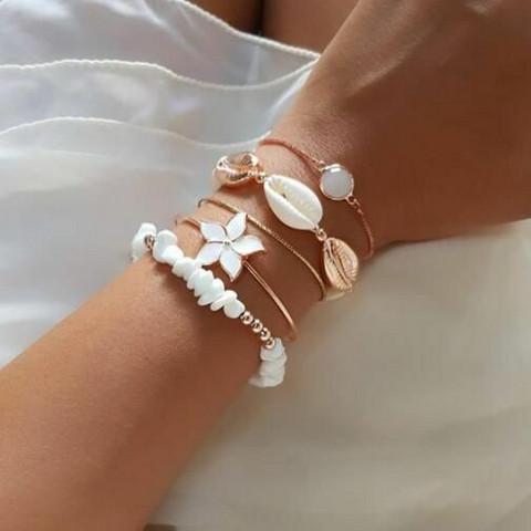 Rannekorusetti, FRENCH RIVIERA| Summer Flower Bracelets in Gold