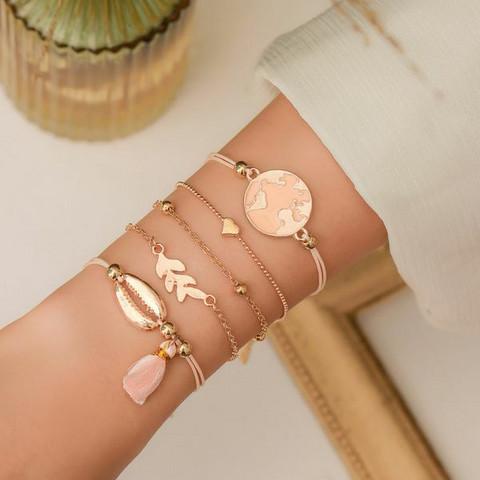 Rannekorusetti, FRENCH RIVIERA|Peachy Beach Bracelets in Gold