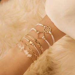 Rannekorusetti, FRENCH RIVIERA|Bali Beach Bracelets in Gold