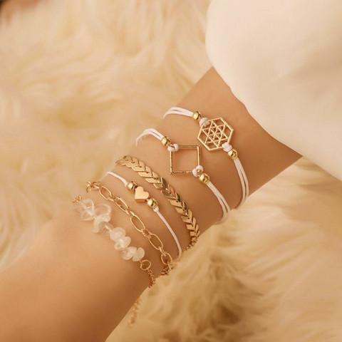 Rannekorusetti, FRENCH RIVIERA Bali Beach Bracelets in Gold