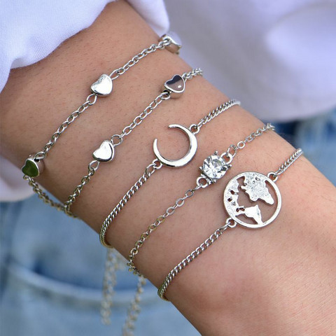 Rannekorusetti, FRENCH RIVIERA|Silver Boho Beach Bracelets