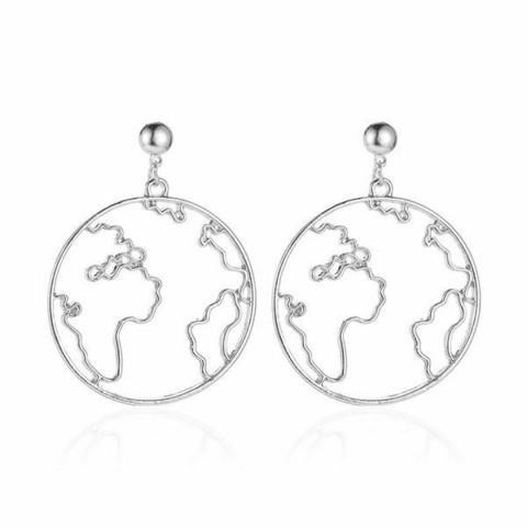 Korvakorut, PAPARAZZI|Silver Earth Earrings