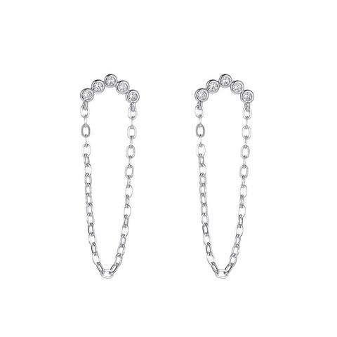 Korvakorut, FRENCH RIVIERA|Chic Modern Earrings in Silver