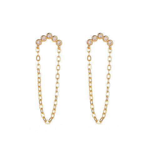 Korvakorut, FRENCH RIVIERA|Chic Modern Earrings in Gold