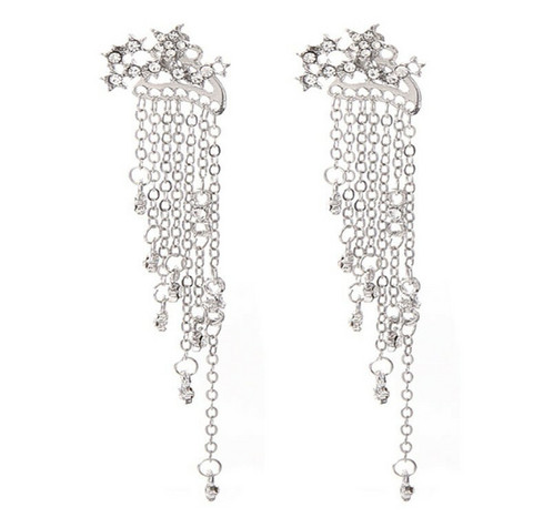 Korvakorut, PAPARAZZI Trendy Star Earrings with Chains