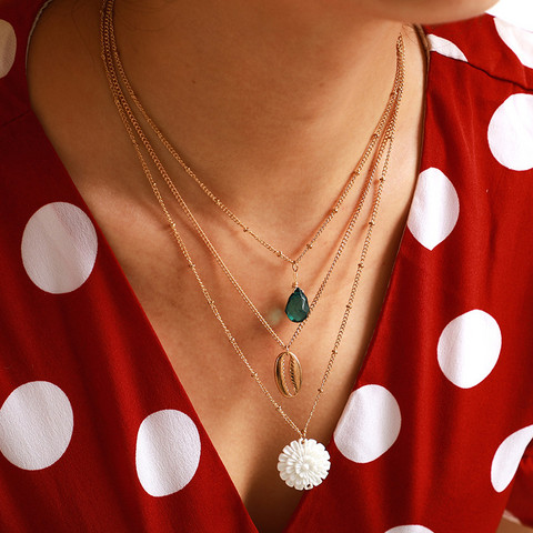 Kerroskaulakoru, FRENCH RIVIERA|Summer Lotus Necklace in Gold