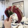 Hiuspanta|SUGAR SUGAR, Leatherette Chain Hairband in Dark Red