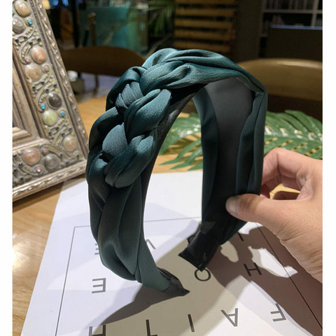 Hiuspanta|SUGAR SUGAR, Chunky Braided Hairband in Emerald