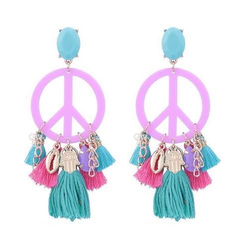 Korvakorut, PAPARAZZI Peace Earrings in Pink