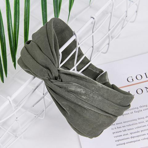 Hiuspanta SUGAR SUGAR, Comfy Knot Hairband in Olive Green