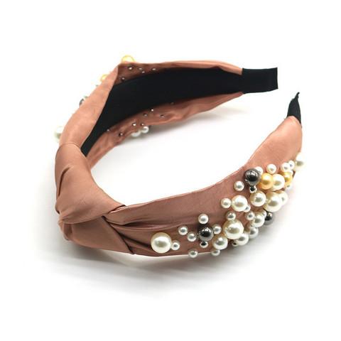 Hiuspanta SUGAR SUGAR, Knot Hairband With Pearls in Soft Copper