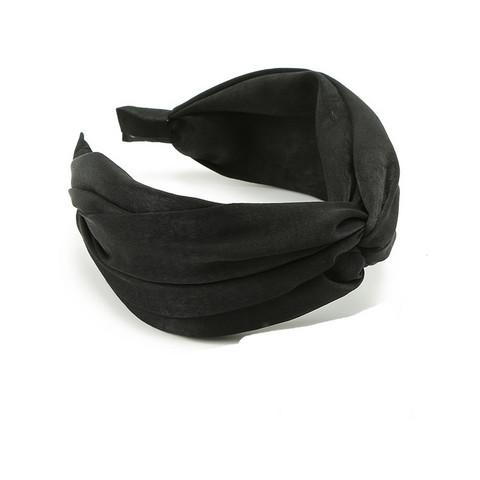Hiuspanta|SUGAR SUGAR, Wide Knot Hairband in Black