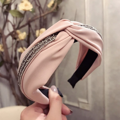 Hiuspanta|SUGAR SUGAR, Stylish Knot Hairband in Soft Pink