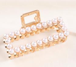 Hiussolki, hainhammas|SUGAR SUGAR, Simple Pearl Hairclip in Gold