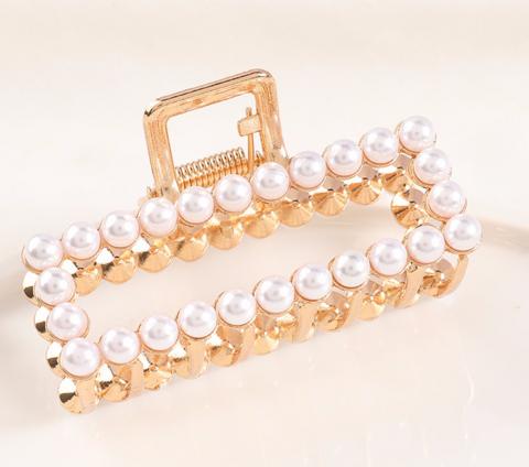 Hiussolki, hainhammas SUGAR SUGAR, Simple Pearl Hairclip in Gold