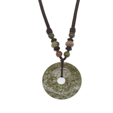 Kaulakoru, NATURE COLLECTION Circle Necklace with Unakite