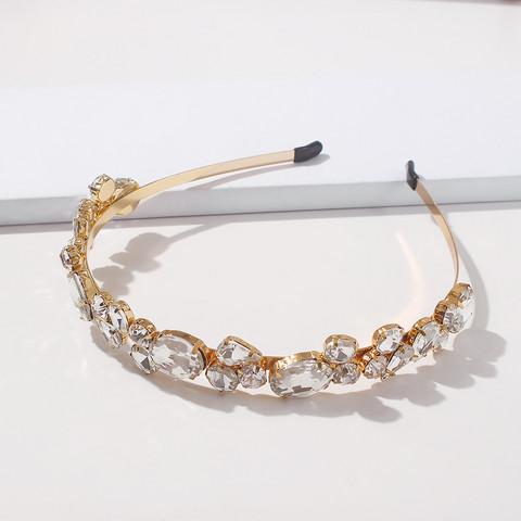 Hiuspanta|SUGAR SUGAR, Gold Hairband With Clear Crystals