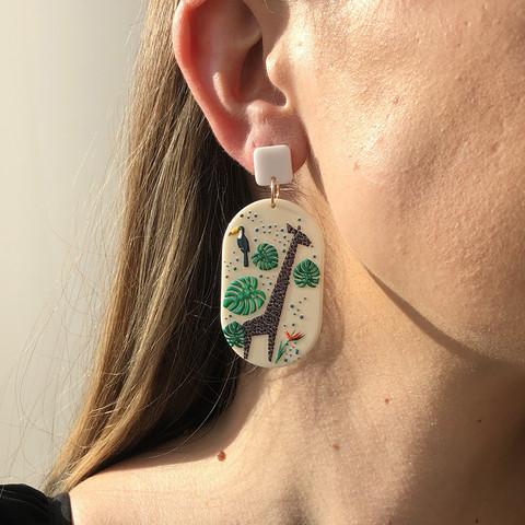 Korvakorut, FRENCH RIVIERA Bohemian Jungle Earrings