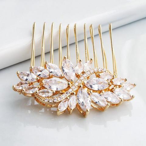 Hiuskoru, ROMANCE Small Elegant Hairpiece in Gold
